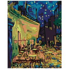 Ночное кафе Раскраска по номерам на холсте Живопись по номерам KTMK-95153 40х50