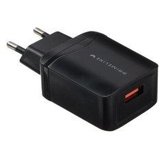 Сетевое зарядное устройство Prime Line, QC 3.0, 3 А, черное 5618736