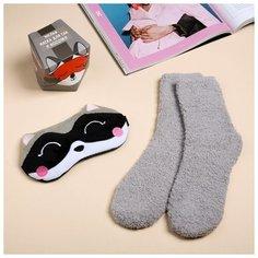 """Набор """"Енотик"""", маска для сна, носки one size 4563622 Сима ленд"""
