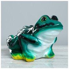"""Копилка """"Жаба"""", цветная новая 884521 Керамика ручной работы"""
