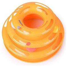 """Интерактивная игрушка -трек для животных """"Чистый котик"""", 25 см, оранжевый"""