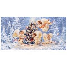 Рождественская елка (рис. на сатене 29х39) (строчный шов) 29х39 Конек 9477 Конёк