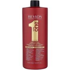 Revlon Professional шампунь-кондиционер Uniq One Hair & Scalp, 1 л