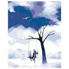 Крылатые качели Раскраска по номерам на холсте Живопись по номерам KTMK-90282 40х50