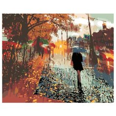 Осенний дождь Раскраска по номерам на холсте Живопись по номерам Z3199 40х50