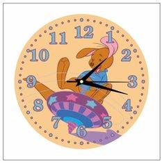 """Часы настенные детские """"Кенгуренок Ру №2"""" 25см, плавный бесшумный механизм Моя Печать"""