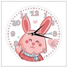 """Часы настенные детские """"Зайчик"""" 25см, плавный бесшумный механизм Моя Печать"""