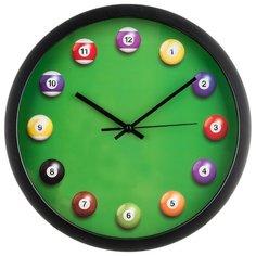 Часы настенные кварцевые Lefard бильярд d = 36 см (220-359)