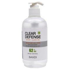 Антисептик - Гель для рук и ногтей «Чистые руки» BANDI CLEAR DEFENCE WATER CLEAN GEL 250 мл.