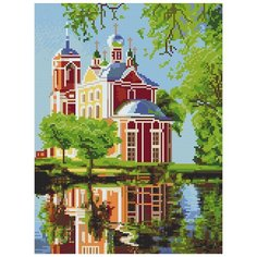 Картина стразами Плещеево озеро 30 x 40 см Ah5390 Алмазное хобби