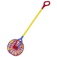 Каталка-игрушка СТРОМ Погремушка №3 (У781) красный/синий