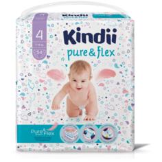 Kindii подгузники Pure & Flex 4 (7-14 кг), 54 шт.