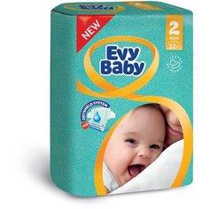 Evy Baby подгузники 2 (3-6 кг), 32 шт.