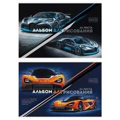 """Альбом для рисования ArtSpace """"Авто. Extreme racing"""", 24 л., 7 шт./2 дизайна в упаковке"""
