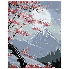 "Картина по номерам Живопись по Номерам ""Сакура под луной"", 40x50 см"