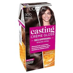 LOreal Paris Casting Creme Gloss стойкая краска-уход для волос, 300, Двойной Эспрессо
