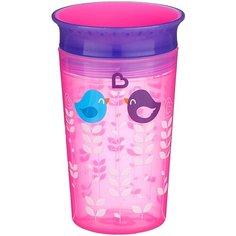 Чашка Munchkin непроливайка Miracle 360° Deco 12295, розовая птица