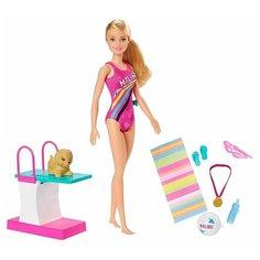 Игровой набор Barbie Dreamhouse Adventures Swim 'n Dive Чемпион по плаванию, 29 см, GHK23