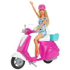 Набор Barbie Блондинка на скутере Vespa, GBK85