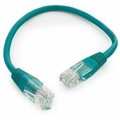 Патч-корд UTP Cablexpert кат.5e PP12-0.25M/G, 0.25м, литой, многожильный (зелёный)