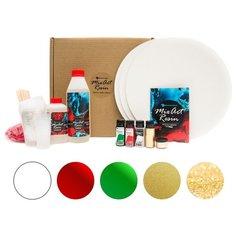 Набор для создания картины эпоксидной смолой MixArt Resin BOX Золотой лес