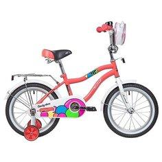 Детский велосипед Novatrack Candy 16 (2019) коралловый (требует финальной сборки)