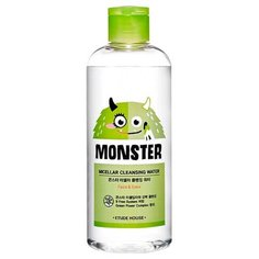 Etude House мицеллярная вода для снятия макияжа с экстрактом алоэ Monster Micellar Cleansing Water, 300 мл