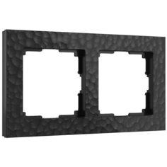 Рамка Werkel Hammer на 2 поста черный W0022408 4690389163401