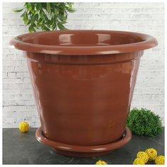 """Горшок для цветов с поддоном 16 л """"Виола"""", цвет коричневый 608318 Alternativa"""