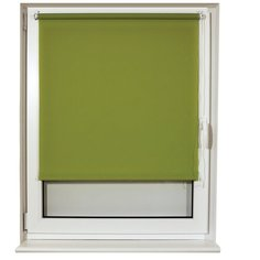 Рулонная штора Brabix Лён зелёный S-32, 70х175 см