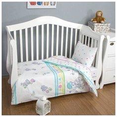 Детское постельное белье Слоники, поплин, ясельный Артпостель