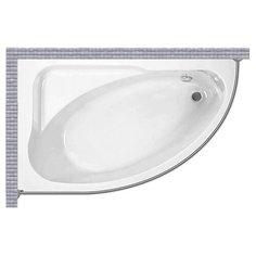 Карниз для ванной Jika Spirit 163x104 Асимметричный Good Home Shop
