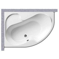 Карниз для ванной Ravak Rosa I 160x105 Асимметричный Good Home Shop