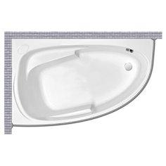 Карниз для ванной Cersanit Joanna 150x95 Асимметричный Good Home Shop