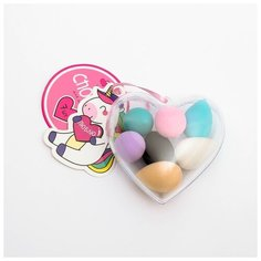 Набор спонжей для макияжа в сердечке «Люблю», 7,5 х 8,5 х 3,5 см 4684511 Сима ленд
