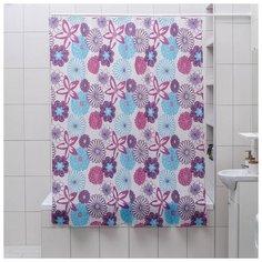 """Штора для ванной """"Цветные сны"""", 180х180 см, PEVA 827452 Доляна"""