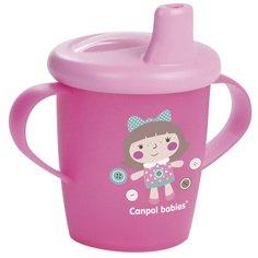 Чашка-непроливайка Canpol babies Toys, 250 мл, 9+ месяцев, цвет розовый (250989191)