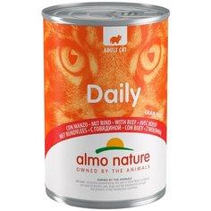 Влажный корм для кошек Almo Nature Daily Menu, с говядиной 2 шт. х 400 г