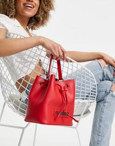 Красная сумка-мешок с логотипом Love Moschino-Красный