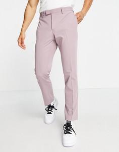 Сиреневые зауженные брюки River Island-Фиолетовый цвет