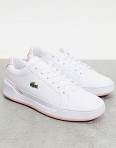 Белые кроссовки с розовой отделкой и чашеобразной подошвой Lacoste Challenge-Белый