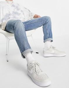 Синие выбеленные джинсы зауженного кроя с цепочкой New Look-Голубой