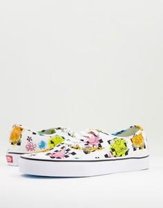 Разноцветные кроссовки Vans X Spongebob Authentic Airbrush-Multi