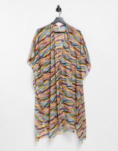 Пляжная туника с абстрактным принтом Vero Moda-Многоцветный