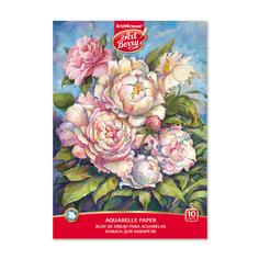 Альбом для рисования с бумагой для акварели на клею ArtBerry® Пионы, А4, 10 листов Erich Krause