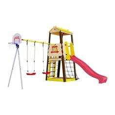 Комплекс спортивный детский Romana Избушка, + пластиковые качели