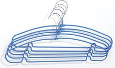 Вешалки Aro с нескользящим покрытием и выемками синие 5 шт