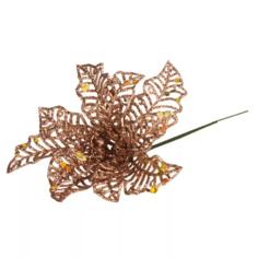 Елочное украшение Marko Ferenzo Caramel Веточка Цветок 1 шт 17x13 см