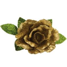 Елочное украшение Marko Ferenzo Classic gold Ветка Цветок 1 шт 20x15 см