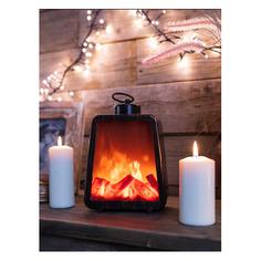 Светильник Neon-Night Home Лофт фор.:камин 3лам. ПВХ/медь (511-034)